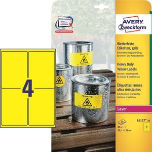 Etykiety AVERY ZWECKFORM HD 99,1x139 żół L6127 - 2847296542
