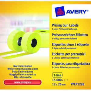 Metki cenowe AVERY ZWECKFORM 12x26 - żółte - 2847296582