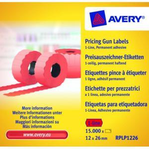Metki cenowe AVERY ZWECKFORM 12x26 - czerwone - 2847296583
