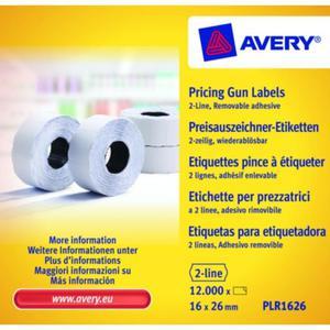 Metki cenowe AVERY ZWECKFORM 16x26 - biała - 2847296584