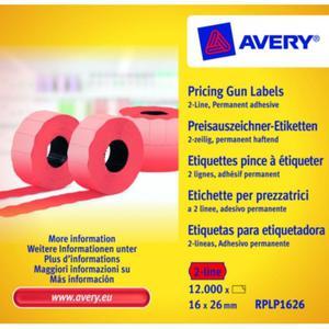 Metki cenowe AVERY ZWECKFORM 16x26 - czerwone - 2847296585
