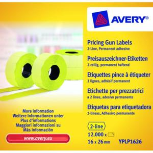 Metki cenowe AVERY ZWECKFORM 16x26 - żółta - 2847296586
