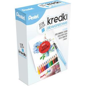 Kredki PENTEL akwarel CB9-12 zestaw Aqua brush - 2847297428