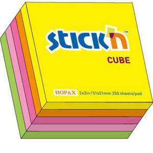 Karteczki samop. STICK'N 51x51 250k. - mix neon - 2847297729