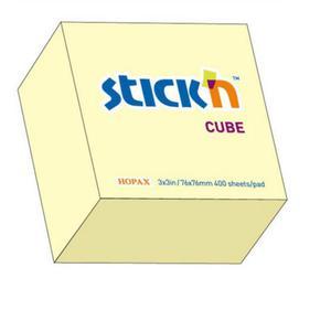 Karteczki samop. STICK'N 76x76 400k. - past żółty - 2847297733