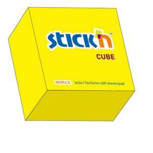Karteczki samop. STICK'N 76x76 400k. - neon żółty - 2847297734