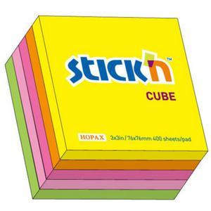 Karteczki samop. STICK'N 76x76 400k. - mix neon - 2847297736