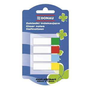 Zakładki indeksujące DONAU 12x45mm 4x20 kart. mix kolorów - 2847297780