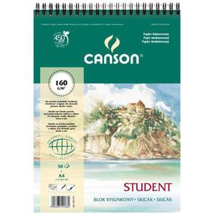 Blok rysunkowy CANSON A4 160g. 50k. fakt.spirala - 2847300481
