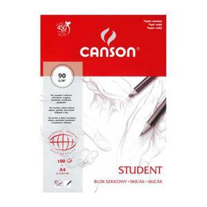 Szkicownik CANSON A4 Student 90g. 100k. ziarnisty - 2847300489