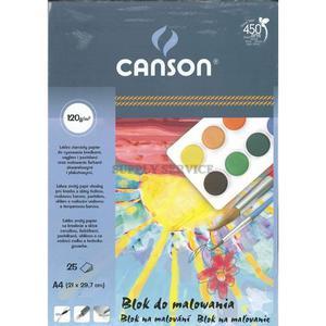 Blok do malowania CANSON A4 120g. - biały - 2847300490