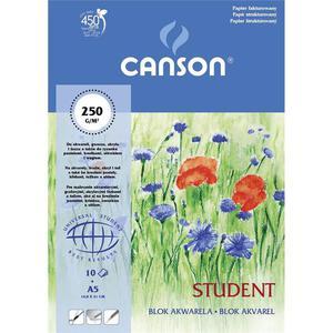 Blok do akwareli CANSON A3 250g. - biały - 2847300491
