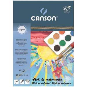 Blok do malowania CANSON A3 120g. 25k. - biały - 2847300492