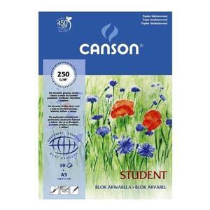 Blok do akwareli CANSON A5 250g. - biały - 2847300494