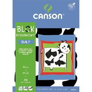 Blok rysunkowy CANSON A4 20k. - biały - 2847300509