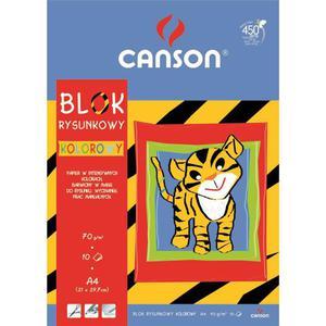 Blok rysunkowy CANSON A4 kolorowy - 2847300511