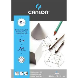 Blok techniczny CANSON A4 biały - 2847300513