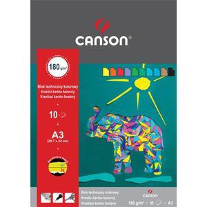 Blok techniczny CANSON A3 kolorowy - 2847300516