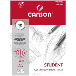Blok rysunkowy CANSON STUDENT A3 90g. 50k. - 2847300528