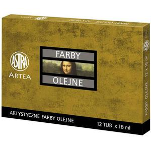 Farby olejne ASTRA 12ml. op.12 kolorów zestaw nr.1 - 2847300629