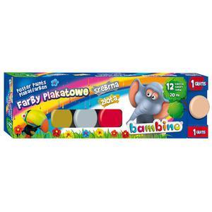 Farby plakatowe BAMBINO 20ml. 12 kolorów - 2847300635