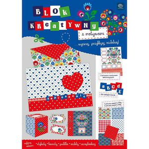 Blok kreatywny INTERDRUK A4 folk - 2847301131