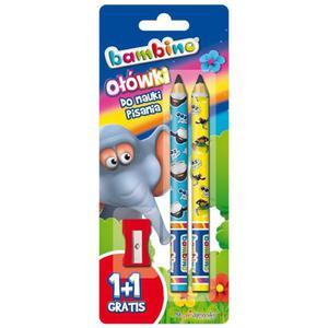 Ołówek BAMBINO do nauki pisania + temperówka - 2847301403