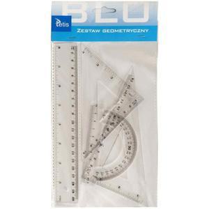 Zestaw geometryczny TETIS z linijka 20cm BL001 - 2847301561