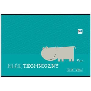Blok techniczny INTERDRUK A4 BB Kids 10k biały - 2847302345