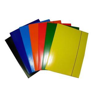 Teczka z gumką A3 KRESKA lakierowana mix kolorów - 2847302877