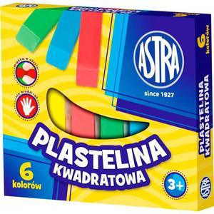 Plastelina ASTRA kwadratowa 6 kolorów - 2847302967