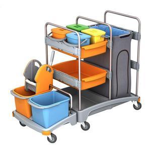 Wózek do sprzątania MERIDA duży MO4P - 2847303051