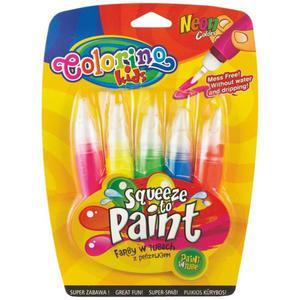 Farby COLORINO w tubach 5k. neon z pędze. 66044 - 2861971057