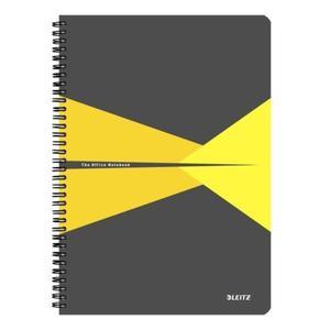 Kołonotatnik LEITZ Office PP A4 w kratkę żółty - 2861971148