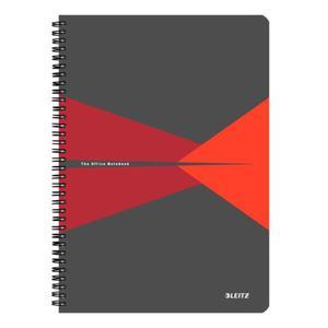 Kołonotatnik LEITZ Office PP A4 w kratkę czerwony - 2861971149