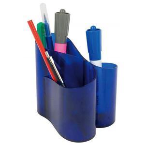Kubek na długopisy ICO Lux - niebieski transparent - 2861972349