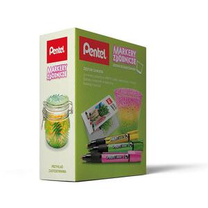 Zestaw PENTEL Markery MMP20 + świecznik (pastele) - 2861972658