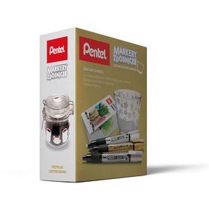 Zestaw PENTEL Markery MMP20 + świecznik (szarości) - 2861972659