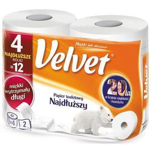 Papier toaletowy VELVET - najdłuższy op.4szt - 2861972827
