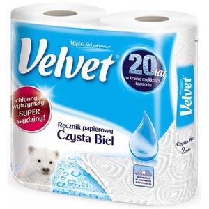 Ręcznik kuchenny VELVET czysta biel op.2 rolki - 2861972829