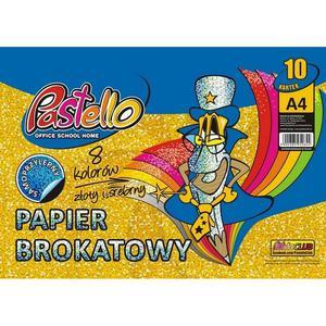 Zeszyt papierów kolorowych PASTELLO A4 brokat mix - 2874810074