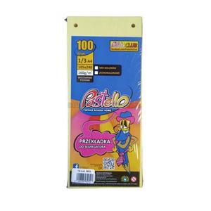 Przekładki PASTELLO A4 1/3 kartonowe mix kolorów - 2874810077