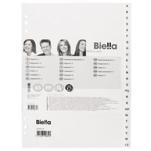 Przekładki BIELLA A4 PCV A-Z białe 473424.00 - 2874810137