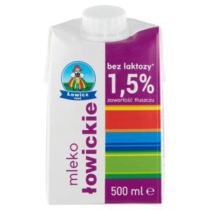 Mleko ŁOWICKIE 0,5l. 1,5% 1szt. bez laktozy - 2874810148