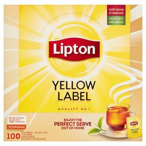Herbata eksp. LIPTON Yellow Label 100tor. koperty - 2874810305