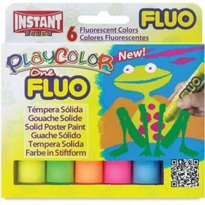 Farby w sztyfcie PlayColor Fluo 6k. 10431 - 2874810481