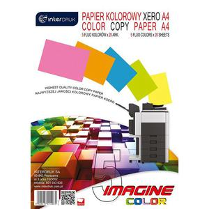 Papier xero kolor INTERDRUK A4 80g mix neon op.100 - 2881305237