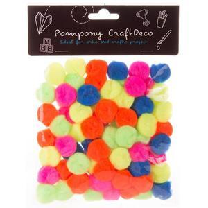 Pompony CZAKO Mix Neon 2cm op.80szt - 2881305269