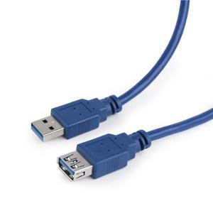 Kabel GEMBIRD CCP-USB3-AMAF-6 (USB 3.0 typu A F - USB 3.0 M; 1,8m; kolor niebieski) - 2881305488