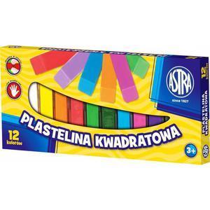 Plastelina ASTRA kwadratowa 12 kolorów - 2825402813
